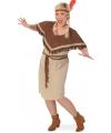 Grote maat Indianen kostuum voor damen