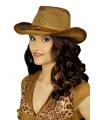 Bruine stro cowboyhoed