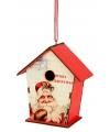 Kerstboom decoratie vogelhuisje 12 cm