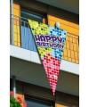 Grote vlag verjaardag 90 x 150 cm