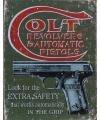 Colt revolvers muurdecoratie metaal 32x41