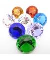 Mooie blauwe decoratie diamant 4 cm