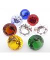 Mooie gele decoratie diamant 5 cm