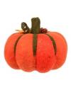 Oranje deco pompoen van stof 20 cm