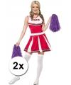 Paarse cheerballs 28 cm set