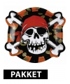 Piraten kinderfeestje versiering pakket