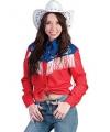 Rodeo cowboy blouse voor dames
