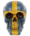 Schedel Zweedse vlag kleuren
