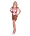 Oktoberfest lederhose met blouse voor dames