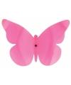 Tuindecoratie vlinder voor aan de muur roze 25 cm