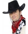 Suede look cowboy hoed zwart