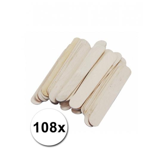 108 knutselhoutjes naturel 150 x 20 mm