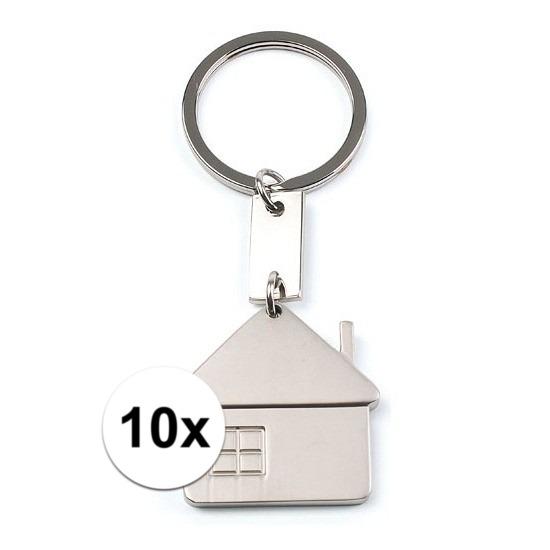 10x Housewarming sleutelhangers 3,5 cm