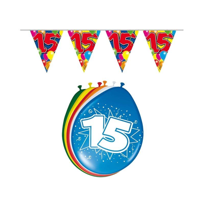 15 jaar geworden feestartikelen voordeel set Multi