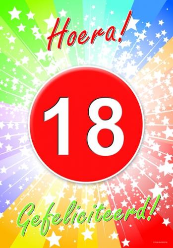 Populair 18 jaar verjaardag poster | Fun en Feest @PV15