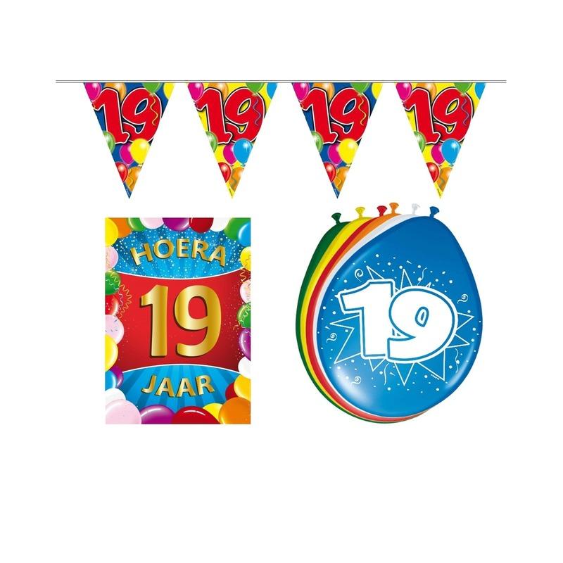 19 jaar geworden feestartikelen voordeel pakket Multi