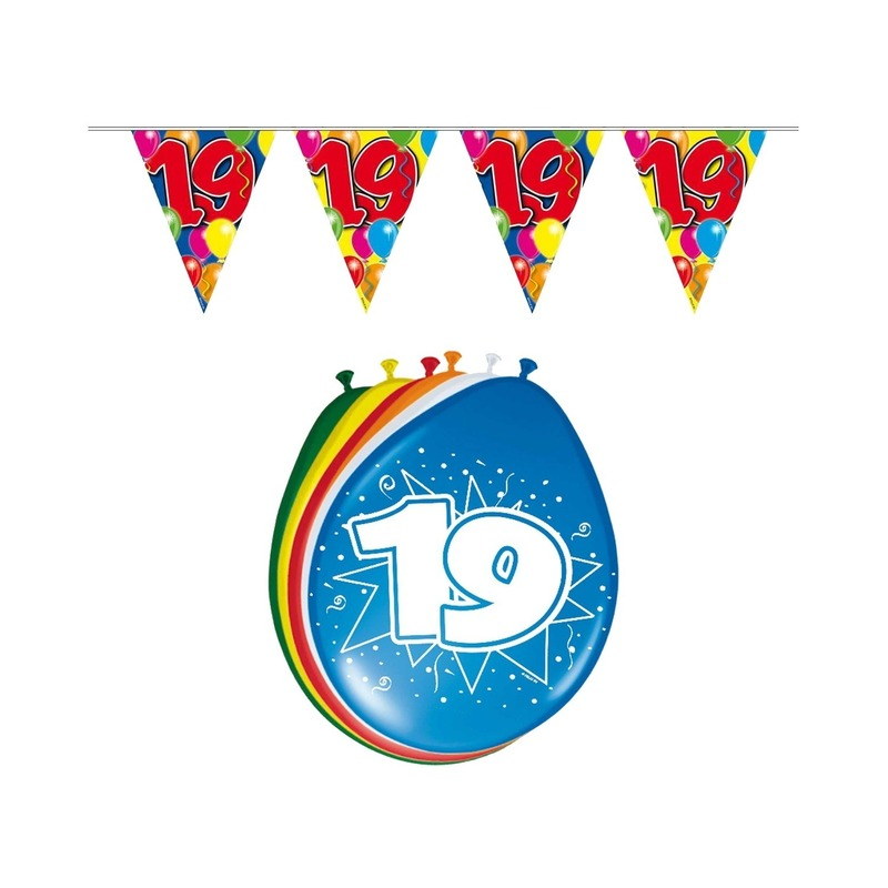 19 jaar geworden feestartikelen voordeel set Multi