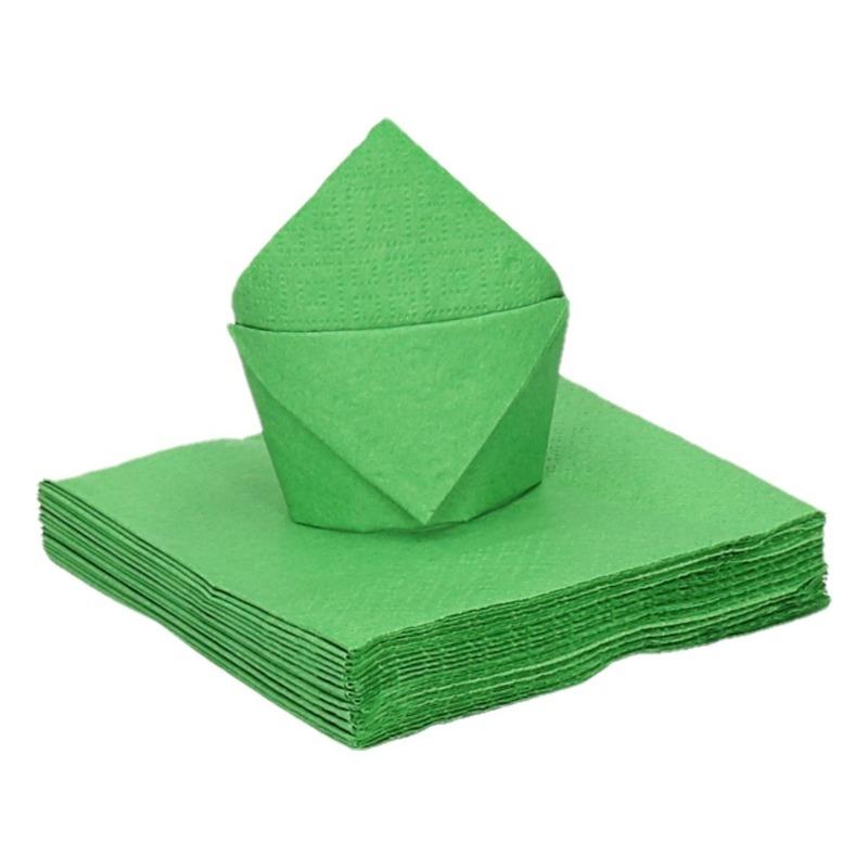 20 stuks coctailservetten groen 25 cm Groen