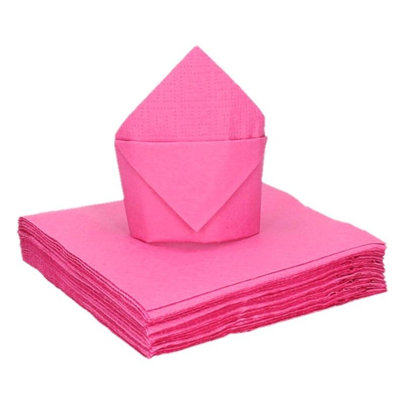 20 stuks coctailservetten roze 25 cm Roze