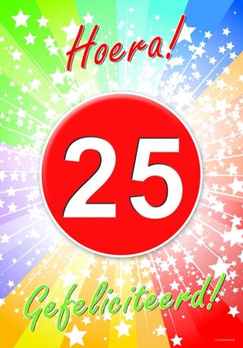 25 jaar verjaardag poster   fun en feest