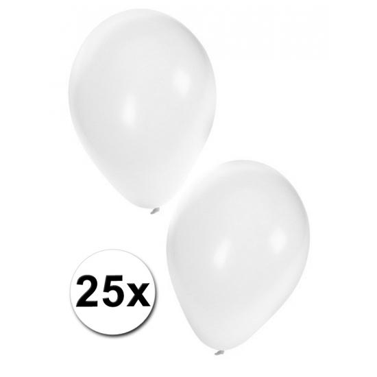 25x witte party ballonnen