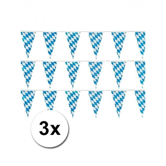 3 Oktoberfest vlaggenlijnen 10 meter