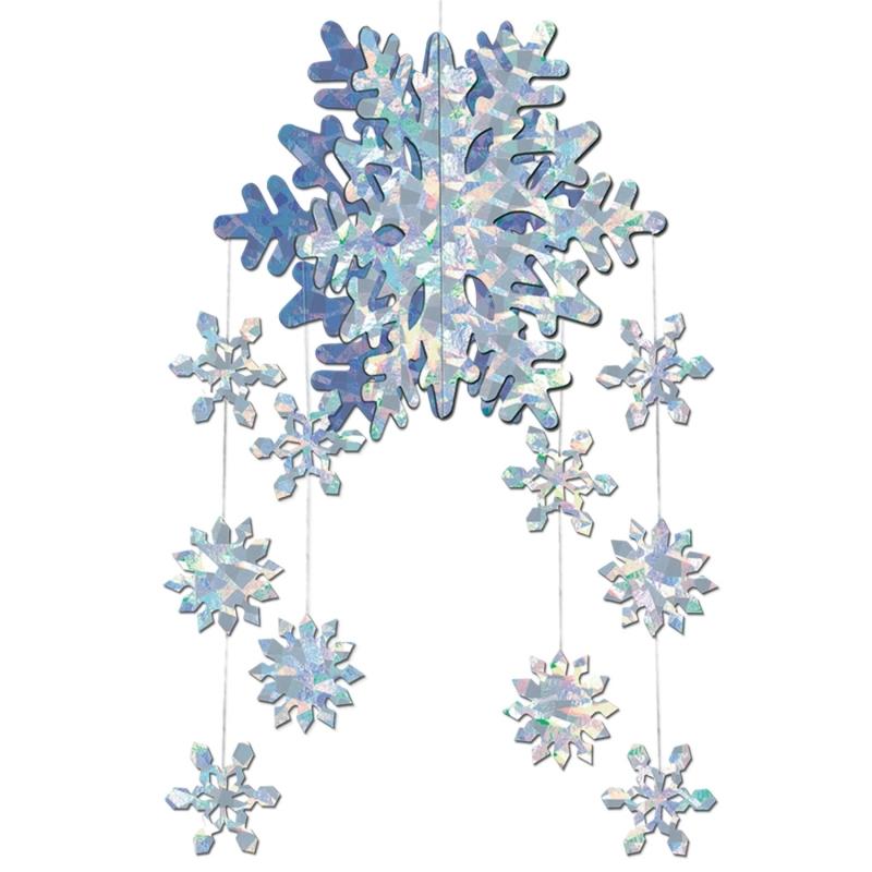 3D sneeuwvlok decoratie mobiel Wit
