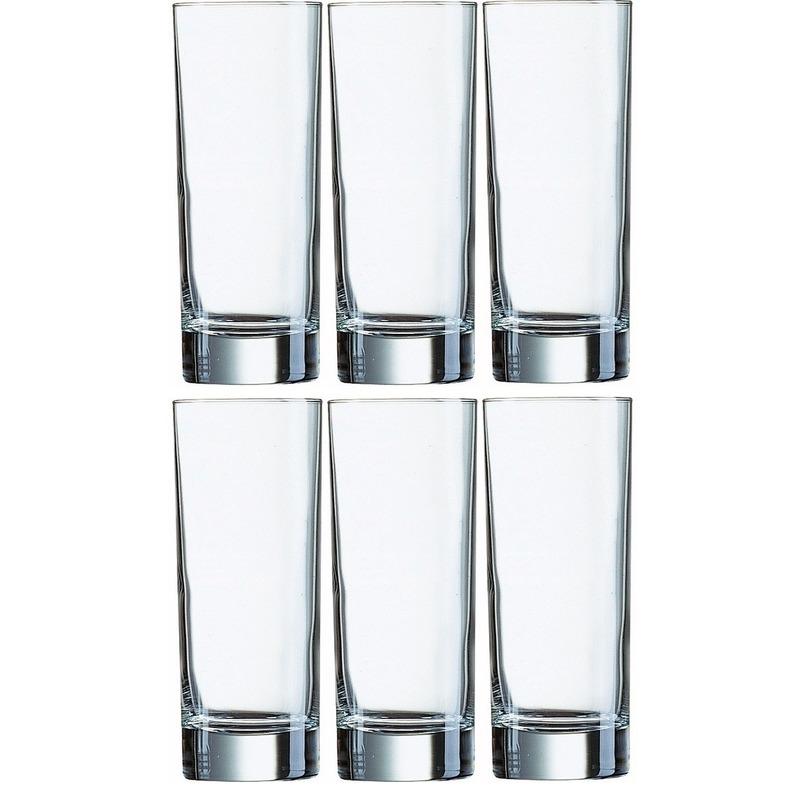 6x Klassieke longdrink glazen 330ml