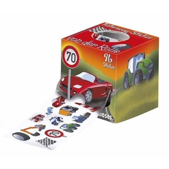 96 voertuigen stickers op een rol