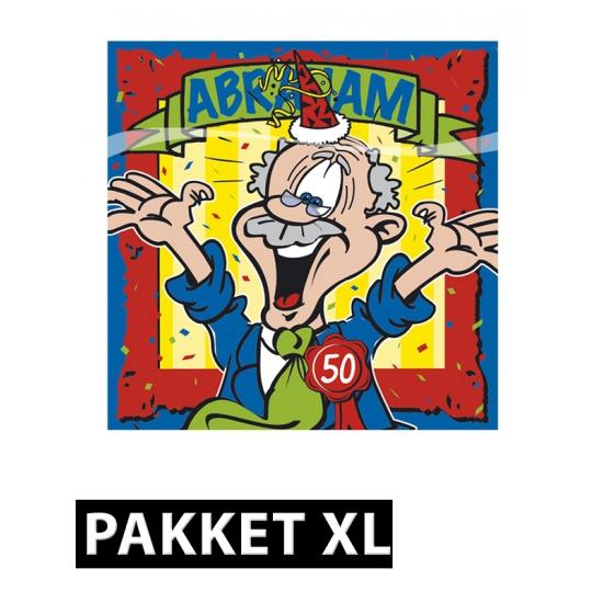 Abraham feestartikelen pakket XL Multi
