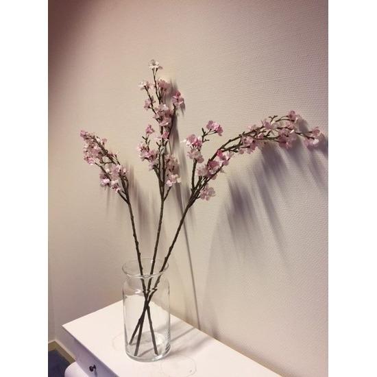 Appelbloesem decoratie takken 104 cm met vaas Multi