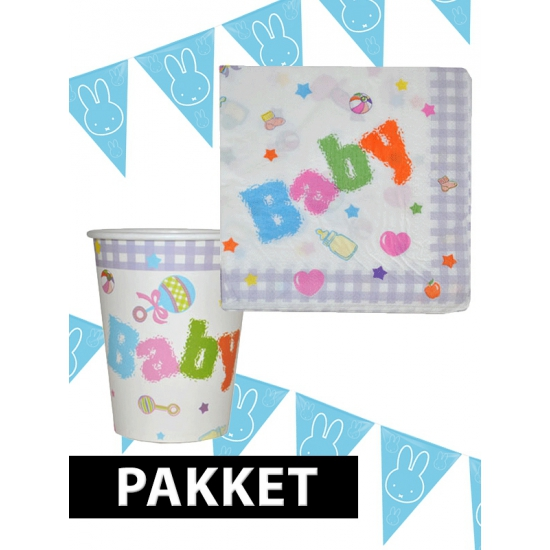 Babyshower decoratie pakket blauw Multi