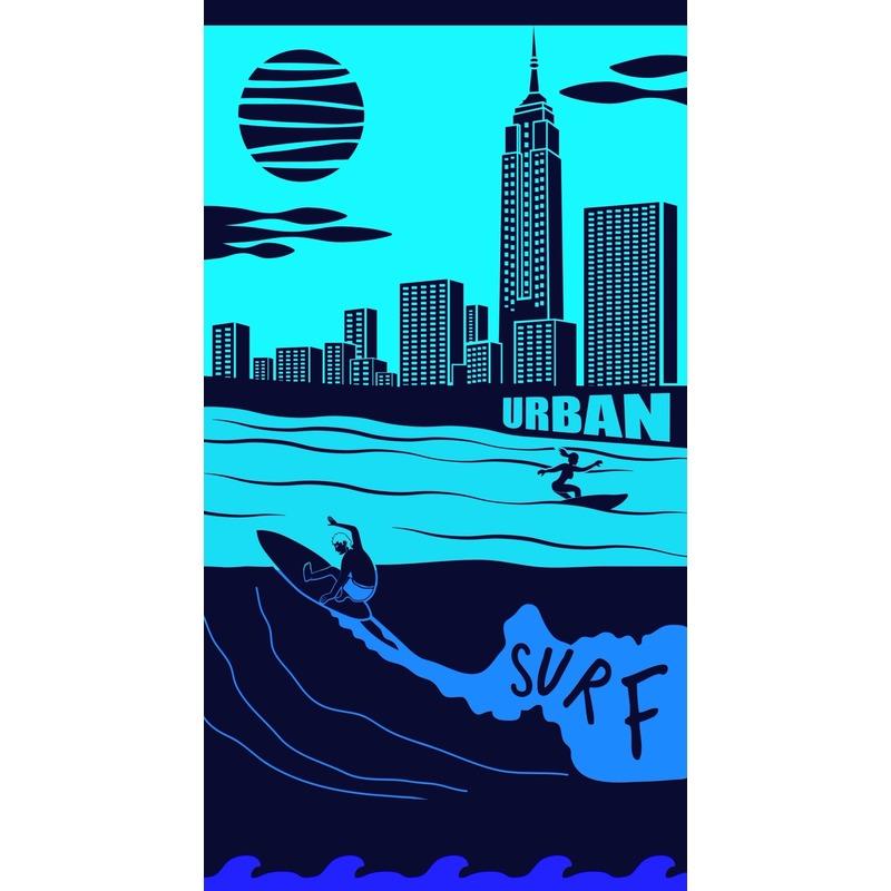Badlaken City Surf voor volwassenen 95/100 x 175