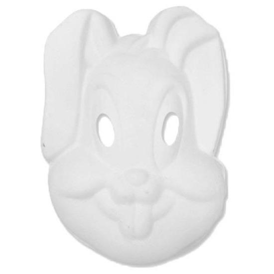 Basic wit konijnen/hazen masker Wit