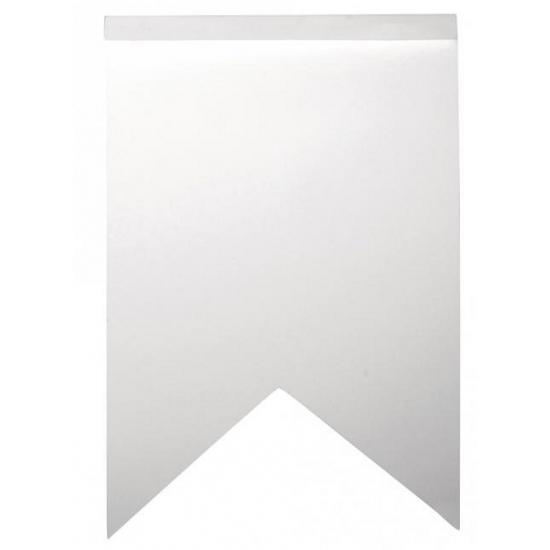 Beschrijfbare vlaggenlijn slingers zigzag