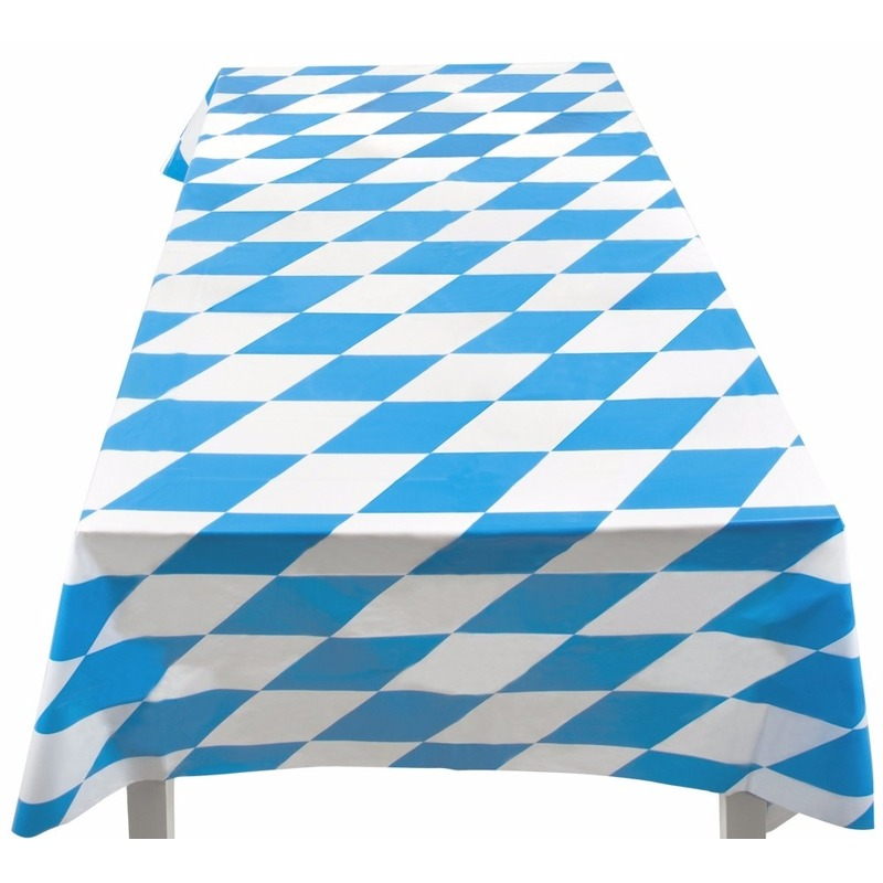 Bierfeest tafelkleed 130 x 180 cm Multi