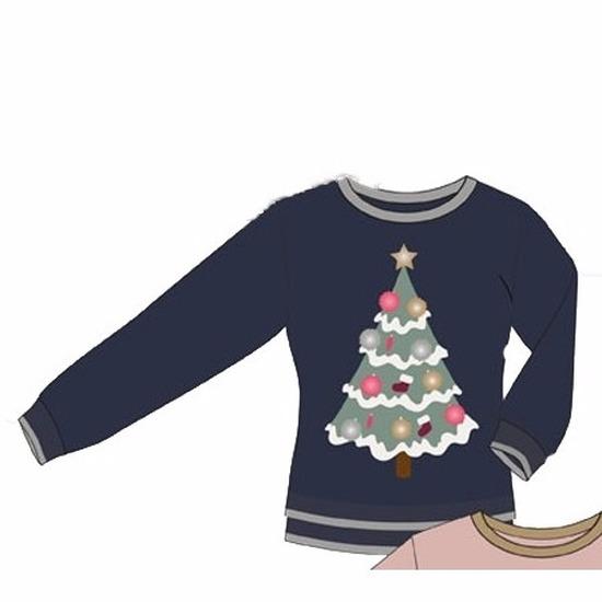 Kersttrui Dames Blauw.Foute Blauwe Dames Kersttrui Met Kerstboom Fun En Feest