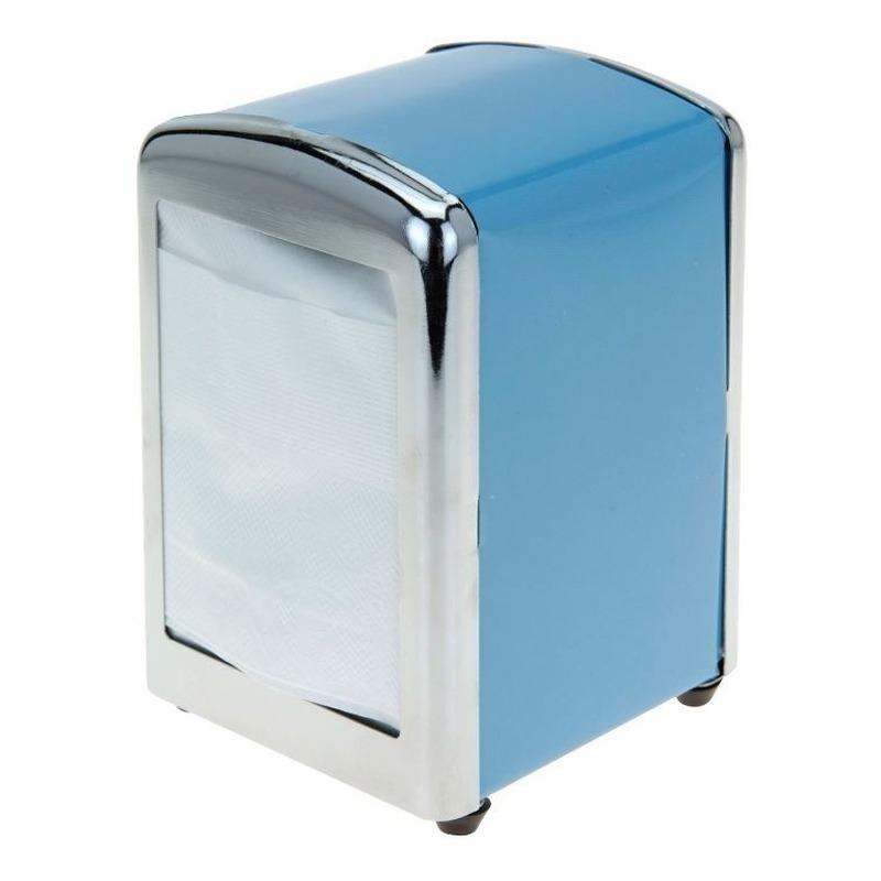 Blauwe servettenhouder 14 cm Blauw