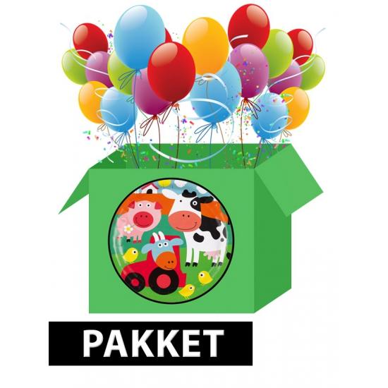 Boerderij versiering pakket voor kinderfeestje Multi