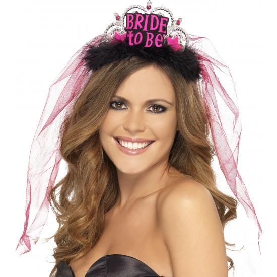 Bride to Be tiara roze vrijgezellenfeest Roze