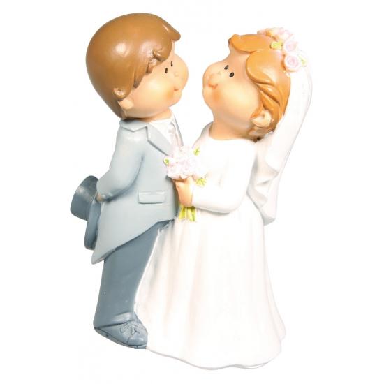 Bruidspaar trouwfiguurtje voor de bruidstaart 11 cm fun for Taart en decoratie