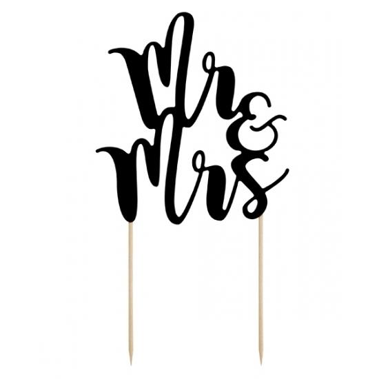 Bruidstaart versiering Mr & Mrs