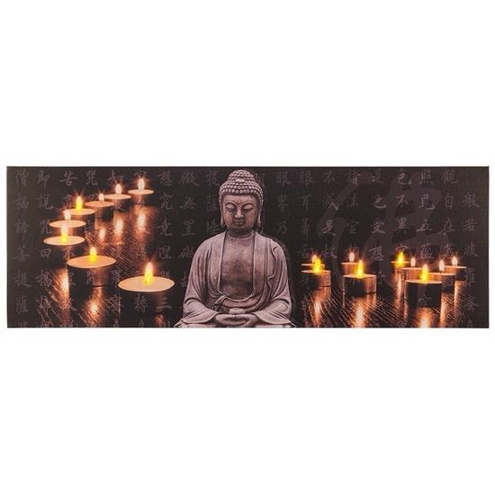 buddha schilderij met led licht type 2 multi