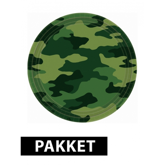 Camouflage versiering pakket voor kinderfeestje Multi