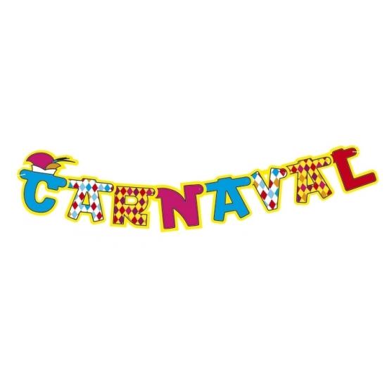 Carnaval letterslingers 160 cm Multi