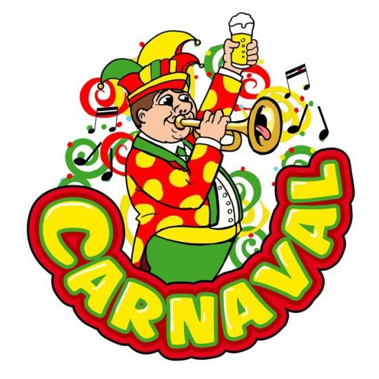 Carnaval raamsticker muzikant met trompet 35 x 40 cm Multi