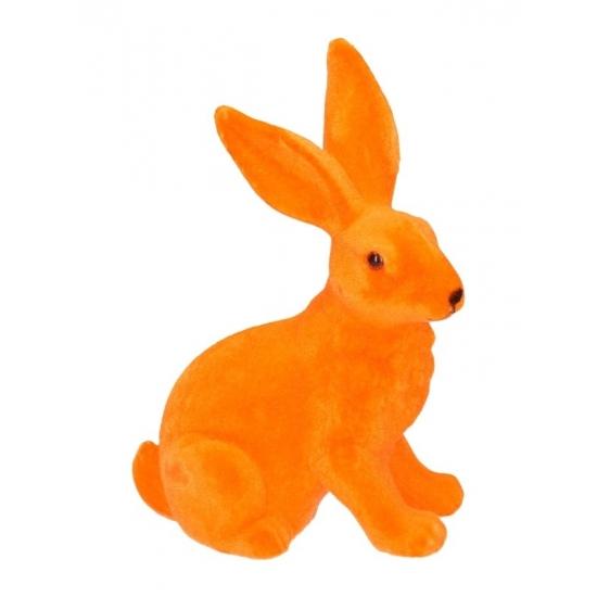 Deco paashaas oranje 23 cm