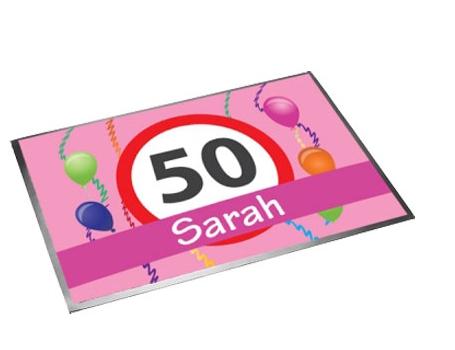 Deurmat 50 jaar Sarah