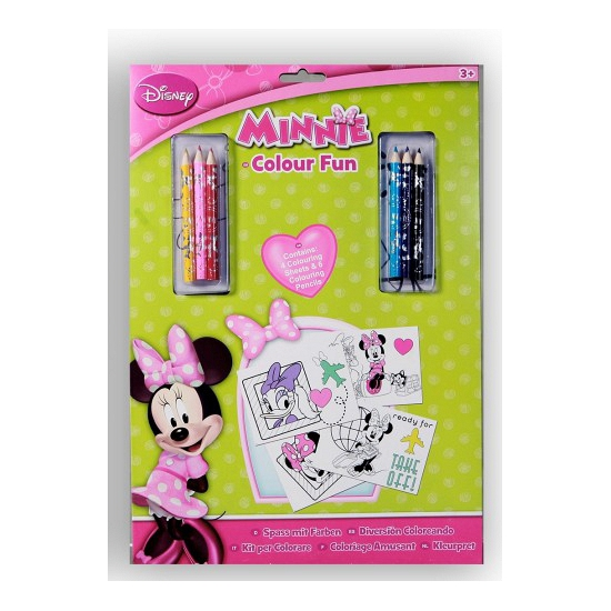 Kleurplaten A4 Disney.Minnie Mouse Kleurplaten 4 Stuks Fun En Feest