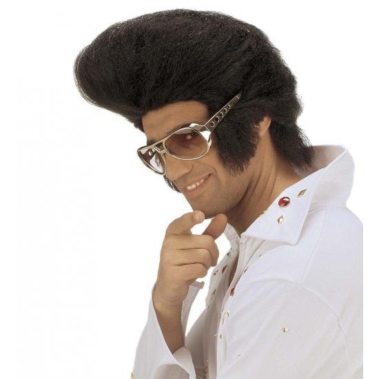 Elvis pruiken zwart Zwart